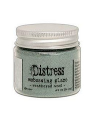 Tim Holtz Distress Embossing Glaze -jauhe, sävy Weathered Wood