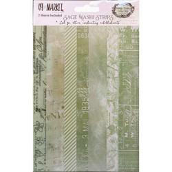 49 and Market Washi Strips, Sage