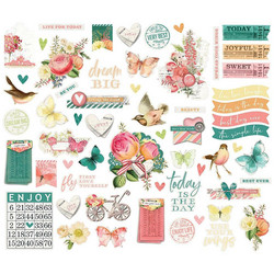 Simple Stories Simple Vintage Garden Floral Bits Die-Cuts, leikekuvat