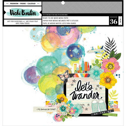 Vicki Boutin paperipakkaus Mixed Media Backgrounds, Let's Wander, 12