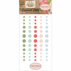 Carta Bella Enamel Dots -tarrat Farmhouse Market