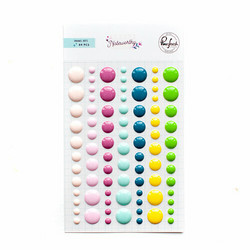 PinkFresh Enamel Dots -tarrat Noteworthy