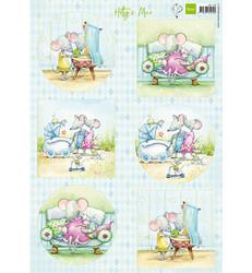 Marianne Design korttikuvat Hetty's Mice Baby
