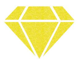 Aladine Izink Diamond -glittermaali, sävy Yellow