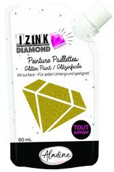 Aladine Izink Diamond -glittermaali, sävy Light Gold