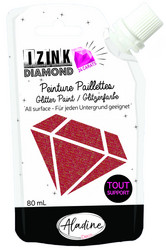 Aladine Izink Diamond -glittermaali, sävy Red
