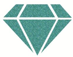Aladine Izink Diamond -glittermaali, sävy Turquoise