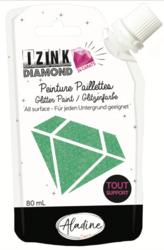 Aladine Izink Diamond -glittermaali, sävy Green Pastel