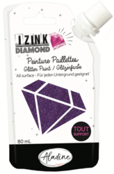 Aladine Izink Diamond -glittermaali, sävy Purple