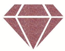 Aladine Izink Diamond -glittermaali, sävy Dark Pink