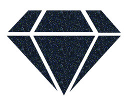 Aladine Izink Diamond -glittermaali, sävy Black