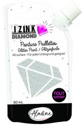 Aladine Izink Diamond -glittermaali, sävy Silver
