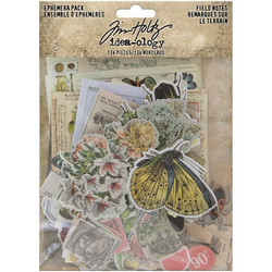 Tim Holtz Idea-Ology Ephemera Field Notes -korttikuvat, 134 kpl