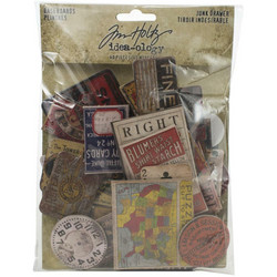 Tim Holtz Idea-Ology Chipboard Baseboards Junk Drawer, 40 kpl