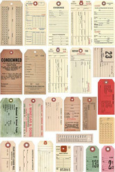 Tim Holtz Idea-Ology Salvaged Tags, 25 kpl