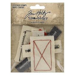 Tim Holtz Idea-Ology Stitched Scraps, 14 kpl