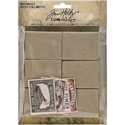 Tim Holtz Idea-Ology Match Boxes & Labels
