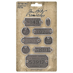 Tim Holtz Idea-Ology Metal Factory Tags