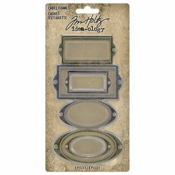 Tim Holtz Idea-Ology Metal Adornments, Label Frames
