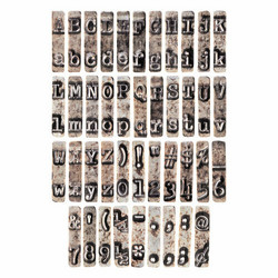 Tim Holtz Idea-Ology Type Chips -kuviot