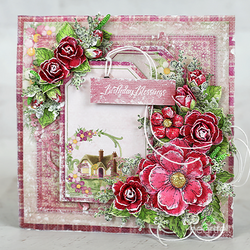Heartfelt Creations Small Wild Rose -leimasinsetti