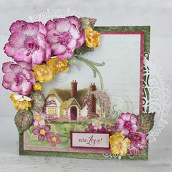 Heartfelt Creations Small Wild Rose -stanssisetti