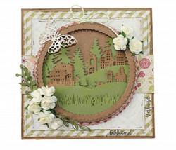 Joy! crafts Village Landscape -stanssisetti