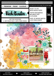 Vicki Boutin paperipakkaus Mixed Media Backgrounds, Let's Wander, 6