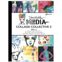 Dina Wakley Media Mixed Media Collage Collective 2 -paperipakkaus, vol 2