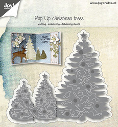 Joy! Crafts stanssi Pop Up Christmas Trees