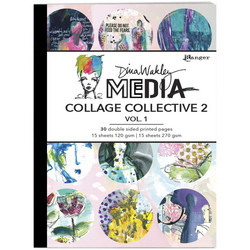 Dina Wakley Media Mixed Media Collage Collective 2 -paperipakkaus, vol 1