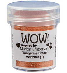 Wow! Embossing Glitters -kohojauhe, sävy Tangerine Dream by Marion Emberson, Regular (T)
