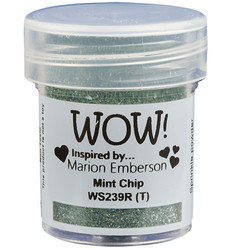 Wow! Embossing Glitters -kohojauhe, sävy Mint Chip by Marion Emberson, Regular (T)