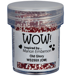 Wow! Embossing Glitters -kohojauhe, sävy Old Glory by Marion Emberson, Mixture (OM)
