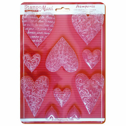 Stamperia Maxi Mould -muotti Textured Hearts
