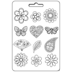 Stamperia Maxi Mould -muotti Flowers, Hearts and Butterflies