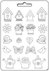 Stamperia Maxi Mould -muotti Spring Garden