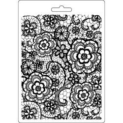 Stamperia Flowered Texture -muotti (tekstuurilevy)