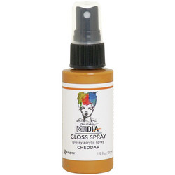 Dina Wakley Media Gloss Spray -suihke, sävy Cheddar, 56 ml