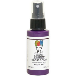 Dina Wakley Media Gloss Spray -suihke, sävy Eggplant, 56 ml