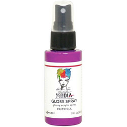Dina Wakley Media Gloss Spray -suihke, sävy Fuchsia, 56 ml