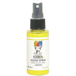 Dina Wakley Media Gloss Spray -suihke, sävy Lemon, 56 ml