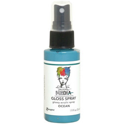 Dina Wakley Media Gloss Spray -suihke, sävy Ocean, 56 ml