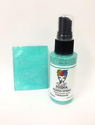 Dina Wakley Media Gloss Spray -suihke, sävy Turquoise, 56 ml