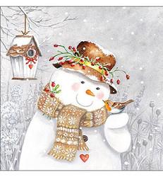 Servetti Snowman Holding Robin, 20 kpl