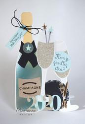 Marianne Design sapluuna Champagne By Marleen
