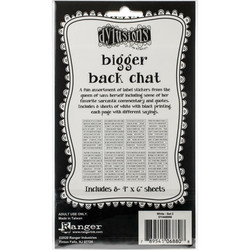 Dyan Reaveley's Dylusions Bigger Back Chat 2 -tarrat, white