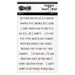 Dyan Reaveley's Dylusions Bigger Back Chat 2 -tarrat, white