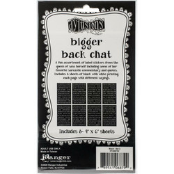 Dyan Reaveley's Dylusions Bigger Back Chat 2 -tarrat, black