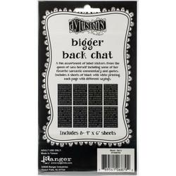 Dyan Reaveley's Dylusions Bigger Back Chat 2 -tarrat, black
